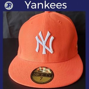 ⚾️New York Yankees Baseball Hat-Orange Fitted-NEW